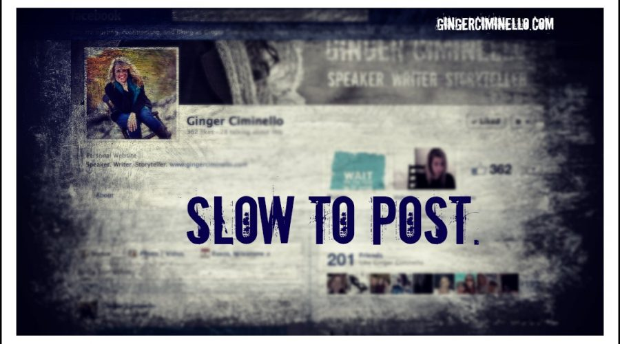 Thursday Tips: Slow To Post